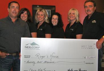Neilcorp Homes Raises $22,000 for Roger's House